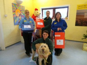 Goody boxes delivered to Dogs Trust, West Calder