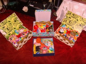 Goody boxes for Lothian Dogs Home, Midlothian